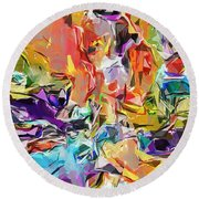 Carnival Abstract 082512 Round Beach Towel