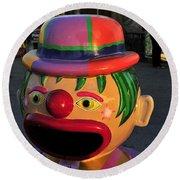 Carnival Clown Round Beach Towel