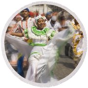 Carnival Dancers Round Beach Towel
