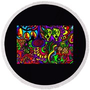 Carnival Day Round Beach Towel