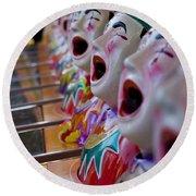 Carnival Of Clowns Round Beach Towel