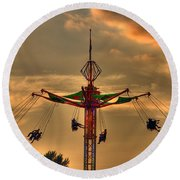 Carnival Ride Round Beach Towel