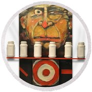 Carny With Type Poster Round Beach Towel