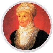 Caroline Herschel, German-british Round Beach Towel