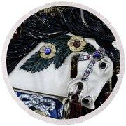 Carousel Horse - 9 Round Beach Towel