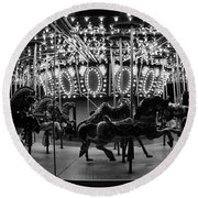 Carousel Work Number One Round Beach Towel