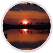 Carrabelle Sunset Round Beach Towel