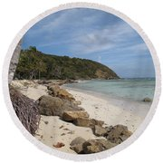 Carribean Euphoria Round Beach Towel