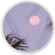 Carribean Full Moon Round Beach Towel