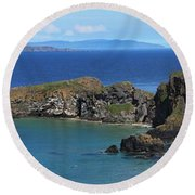 Carrick-a-rede Rope Bridge In The Round Beach Towel