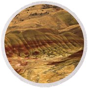 Carroll Rim Painted Hills Round Beach Towel