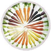 Carrot Pigmentation Variation Round Beach Towel