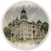 Carthage Courthouse Round Beach Towel