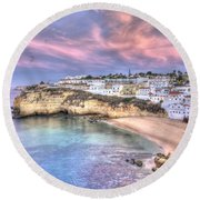 Carvoeiro Early Morning Round Beach Towel