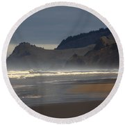 Cascade Head Round Beach Towel