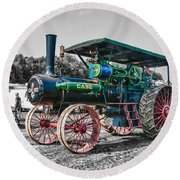 Case Tractor Round Beach Towel