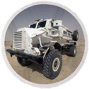 Casper Armored Vehicle Sits Round Beach Towel