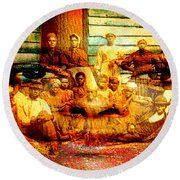 Cast Into The Wind Round Beach Towel