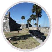 Castillo De San Marco I Round Beach Towel