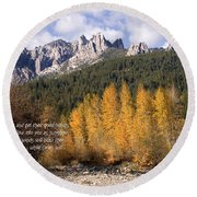 Castle Crags Autumn Round Beach Towel