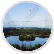 Castle Island, Lough Key Forest Park Round Beach Towel