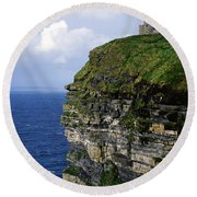 Castle On A Cliff, Obriens Tower Round Beach Towel