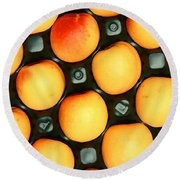 Castlebrite Apricot Round Beach Towel by Photo Researchers