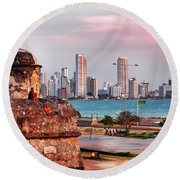 Castles Made Of Sand Round Beach Towel by Skip Hunt