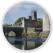 Castles, St Johns Castle, Co Limerick Round Beach Towel