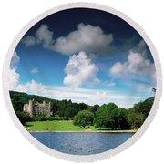 Castlewellan Castle & Lake, Co Down Round Beach Towel