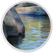 Castor River Reflections Round Beach Towel