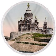 Cathedral In Helsinki Finland - Ca 1900 Round Beach Towel