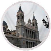 Cathedral Morning Round Beach Towel