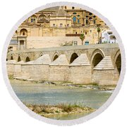 Cathedral Mosque In Cordoba Round Beach Towel
