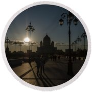 Cathedral Of Christ The Saviour Round Beach Towel