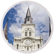 Cathedral Of Saint Louis Round Beach Towel
