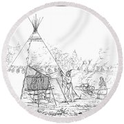 Catlin: Steam Bath Round Beach Towel