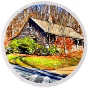 Catoctin Visitor Center Round Beach Towel