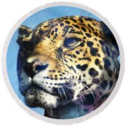 Cats Eyes - Leopard Round Beach Towel