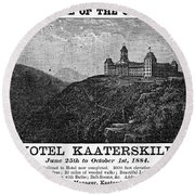 Catskills Hotel, 1884 Round Beach Towel