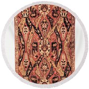 Caucasus: Carpet, C1680 Round Beach Towel