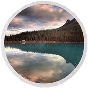 Caught In Reflections Round Beach Towel