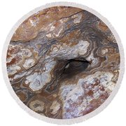 Cave Formations 17 Round Beach Towel