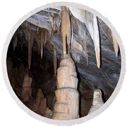 Cave Formations 44 Round Beach Towel