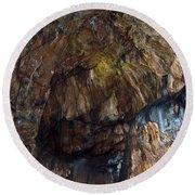 Cave01 Round Beach Towel by Svetlana Sewell