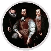 Cavendish Drake And Hawkins Round Beach Towel
