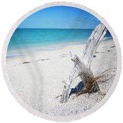 Cayo Costa Serenity Vanilla Pop Round Beach Towel