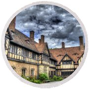 Cecilienhof Palace At Neuer Garten Berlin Round Beach Towel