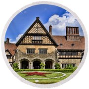 Cecilienhof Palace Berlin Germany Round Beach Towel