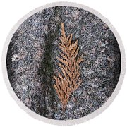 Cedar On Granite Round Beach Towel